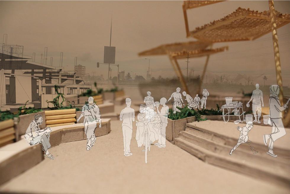 BRT walkway. Moumakoe, BMK. Unit 15X. 2020.