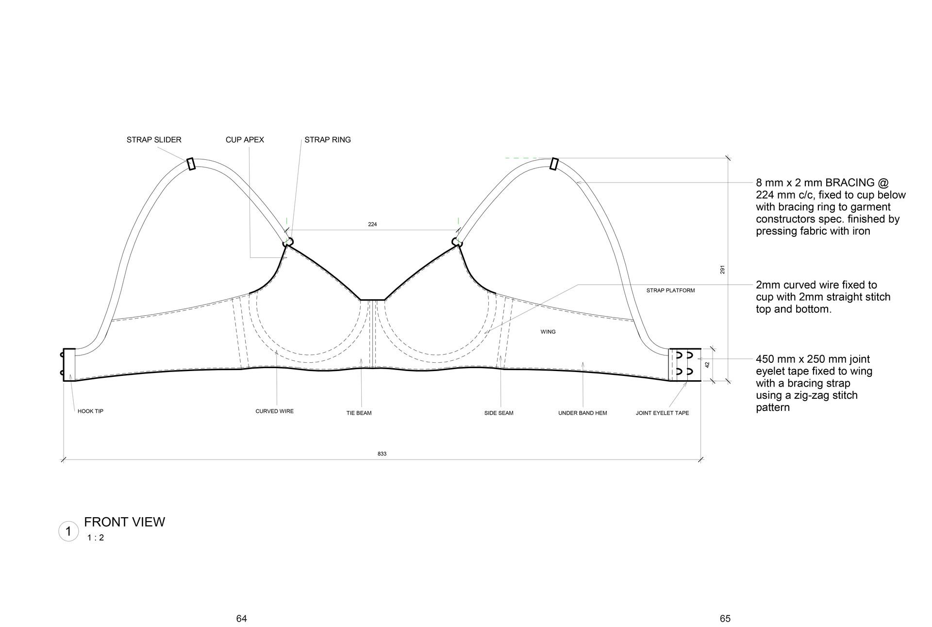 Bra – structural components. Selepe, D. Unit 19. 2020.