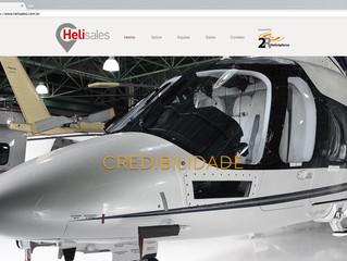 Helisales. A mais nova opção na compra e venda de aeronaves coloca seu novo site no ar.
