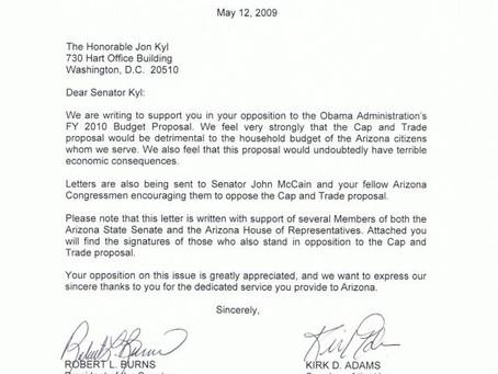 44 Legislative members sign letter opposing Cap and Trade