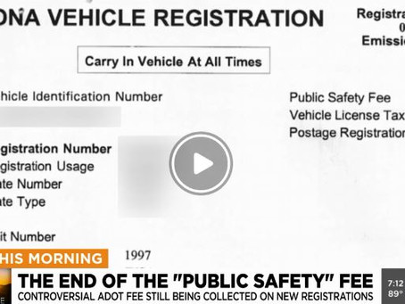 Arizona's 'public safety fee' is going away, but some people will still pay