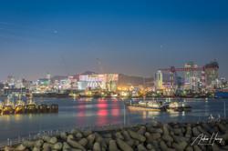Blue Hour Busan International Port