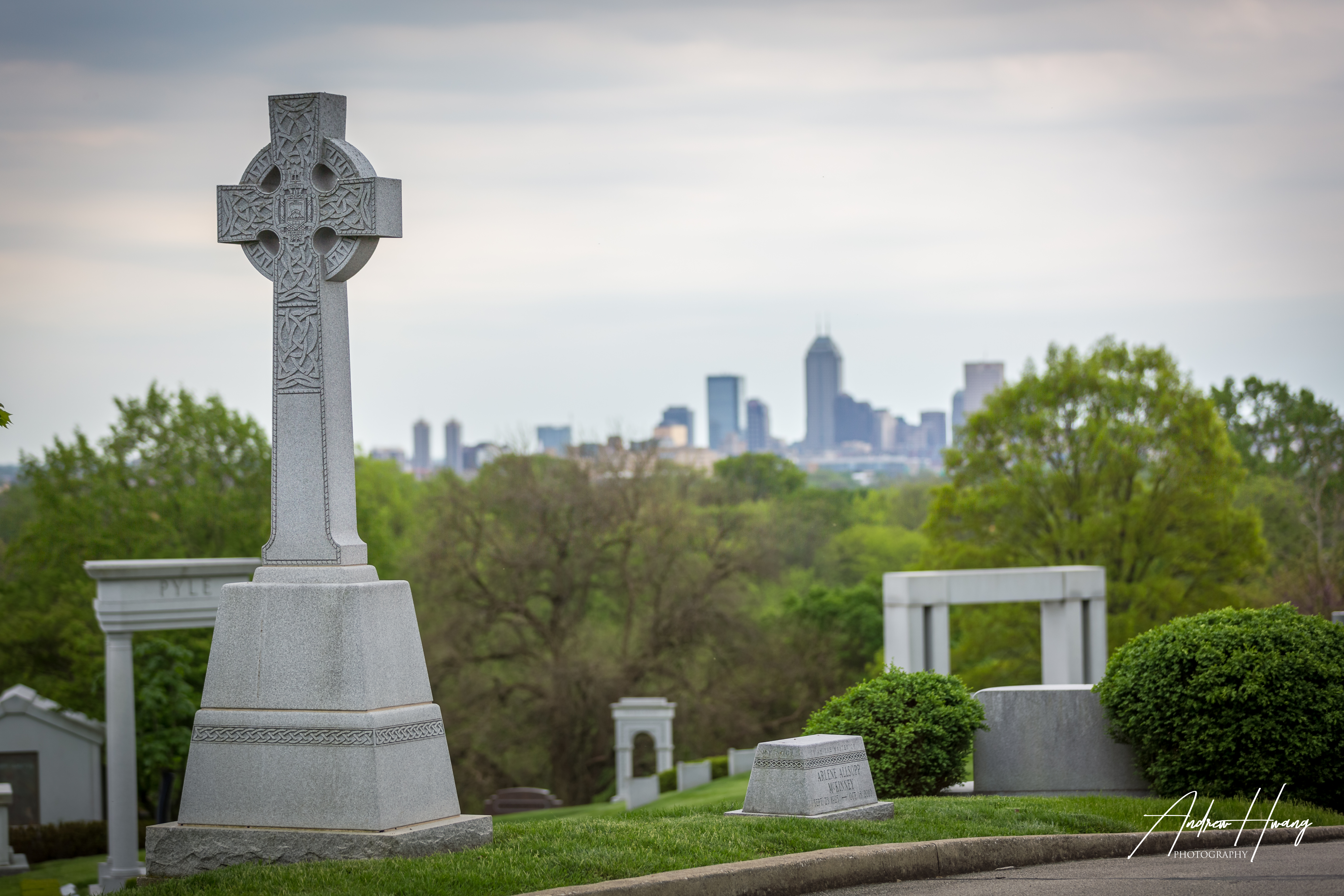Crown Hill Cemetary Skyline Shot