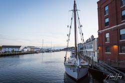 Downtown Mystic Sailboat