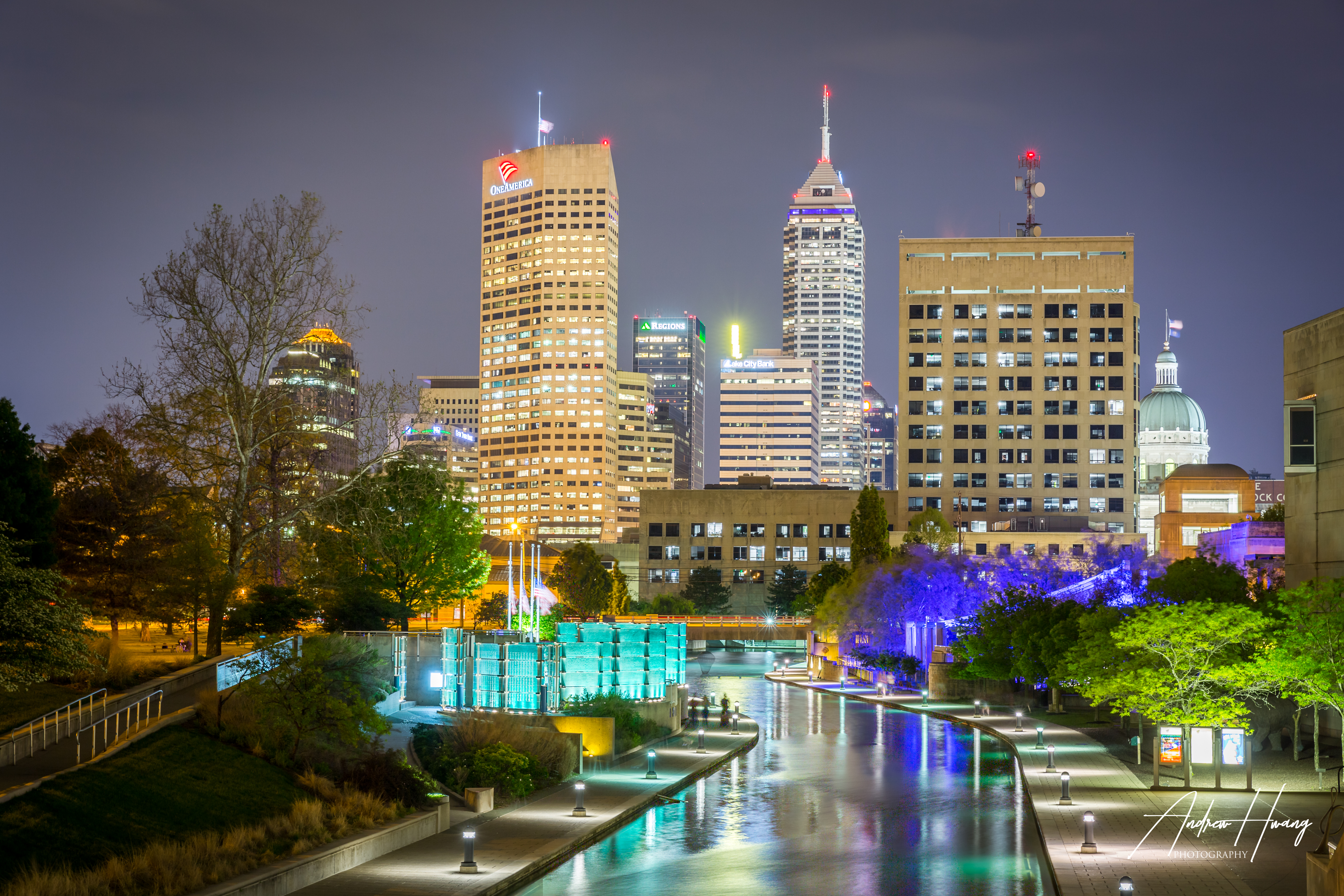 Central Canal Indianapolis Night Shot