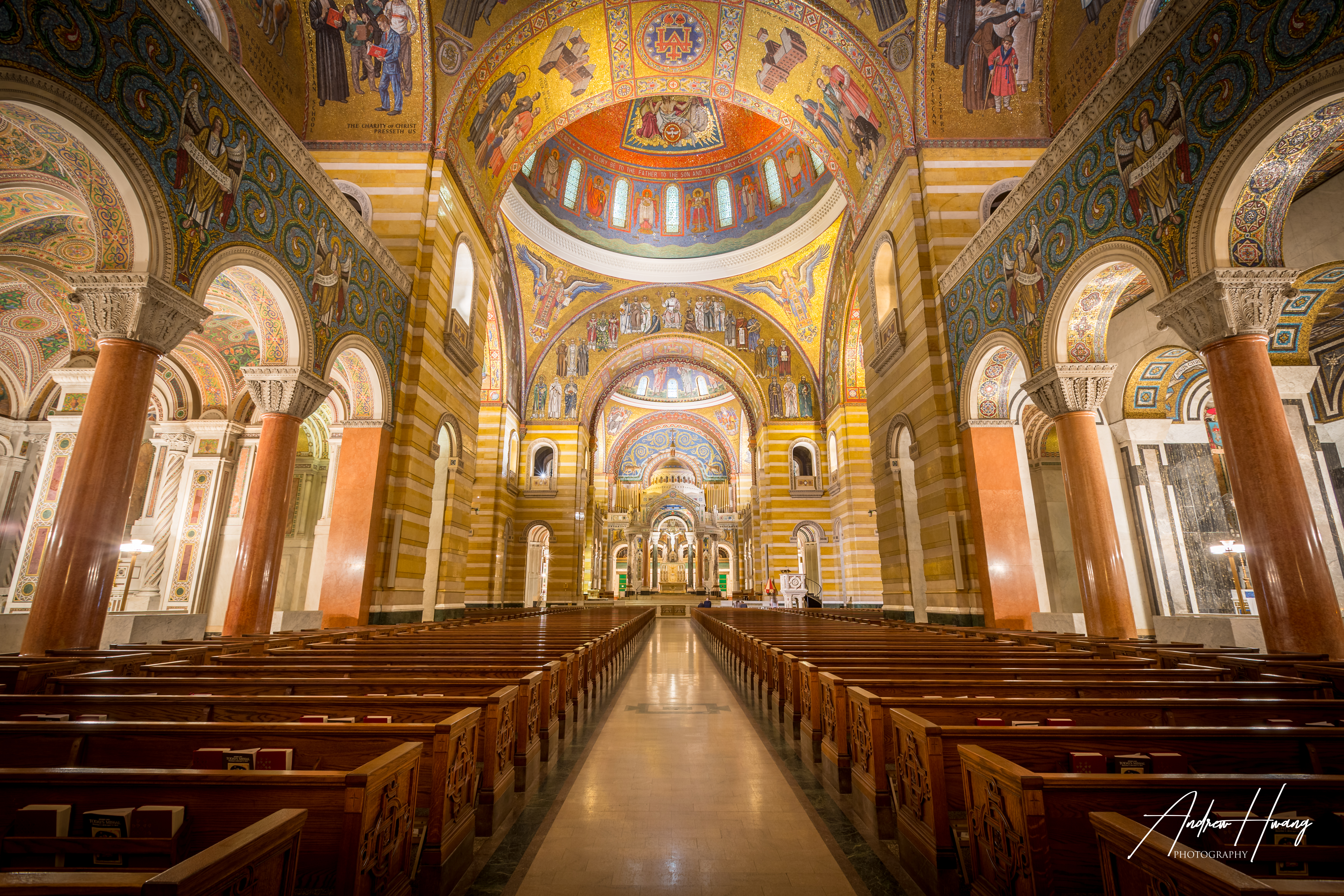 St Louis Cathedral Basilica Aisle