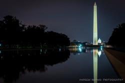 Washington Monument Reflection Pool Night Shot