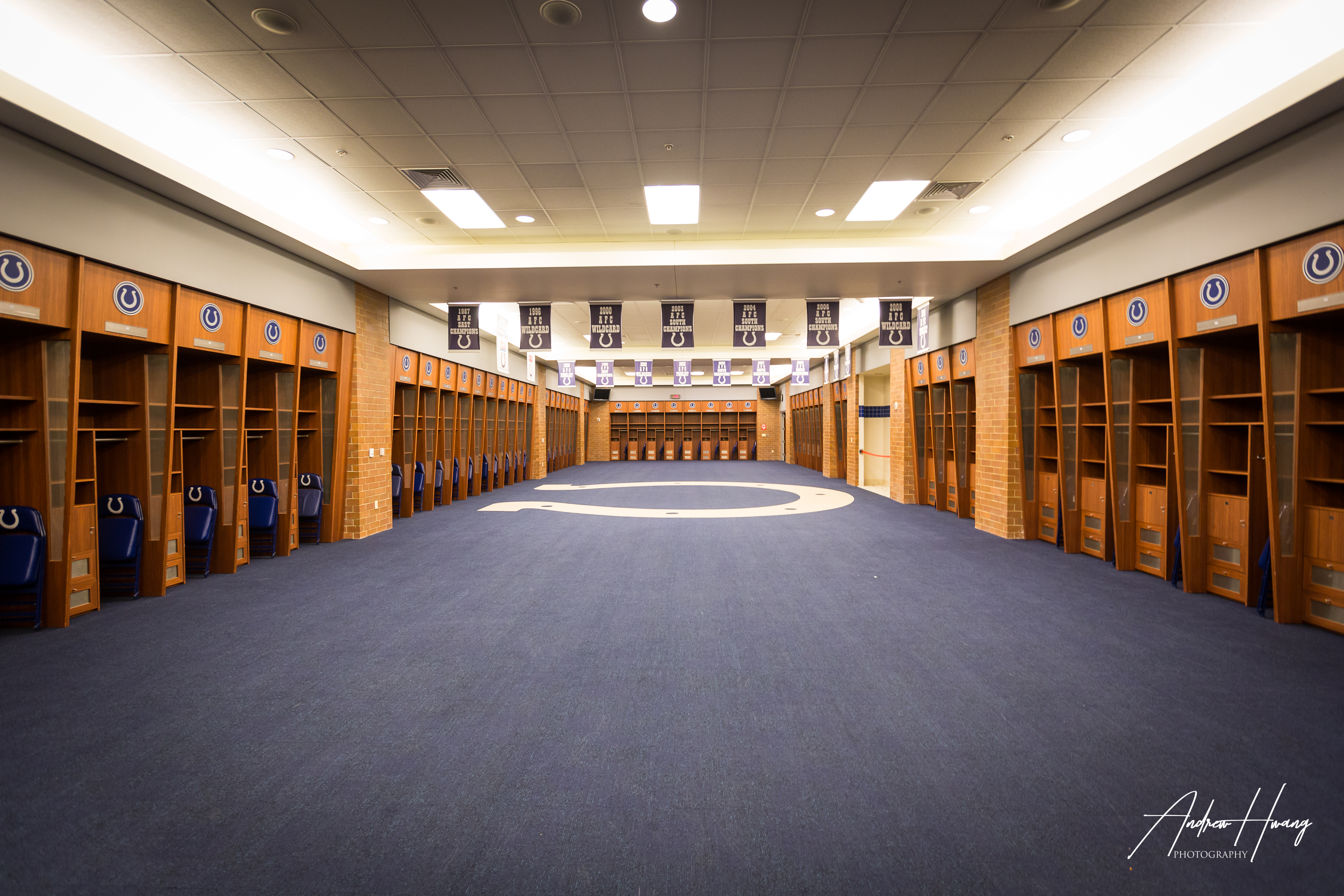 Lucas Oil Stadium Locker Room