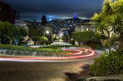 Lombard Street Light Trail 2
