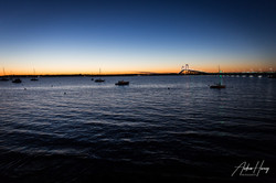 Newport Bridge Blue Hour