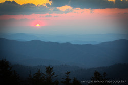 Clingmans Dome Sunset Smoky Mountains 4