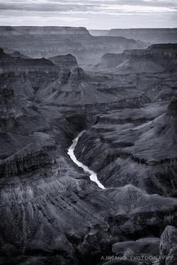 River Through the Canyon B_W