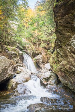 Bingham Falls Middle of Water Shot