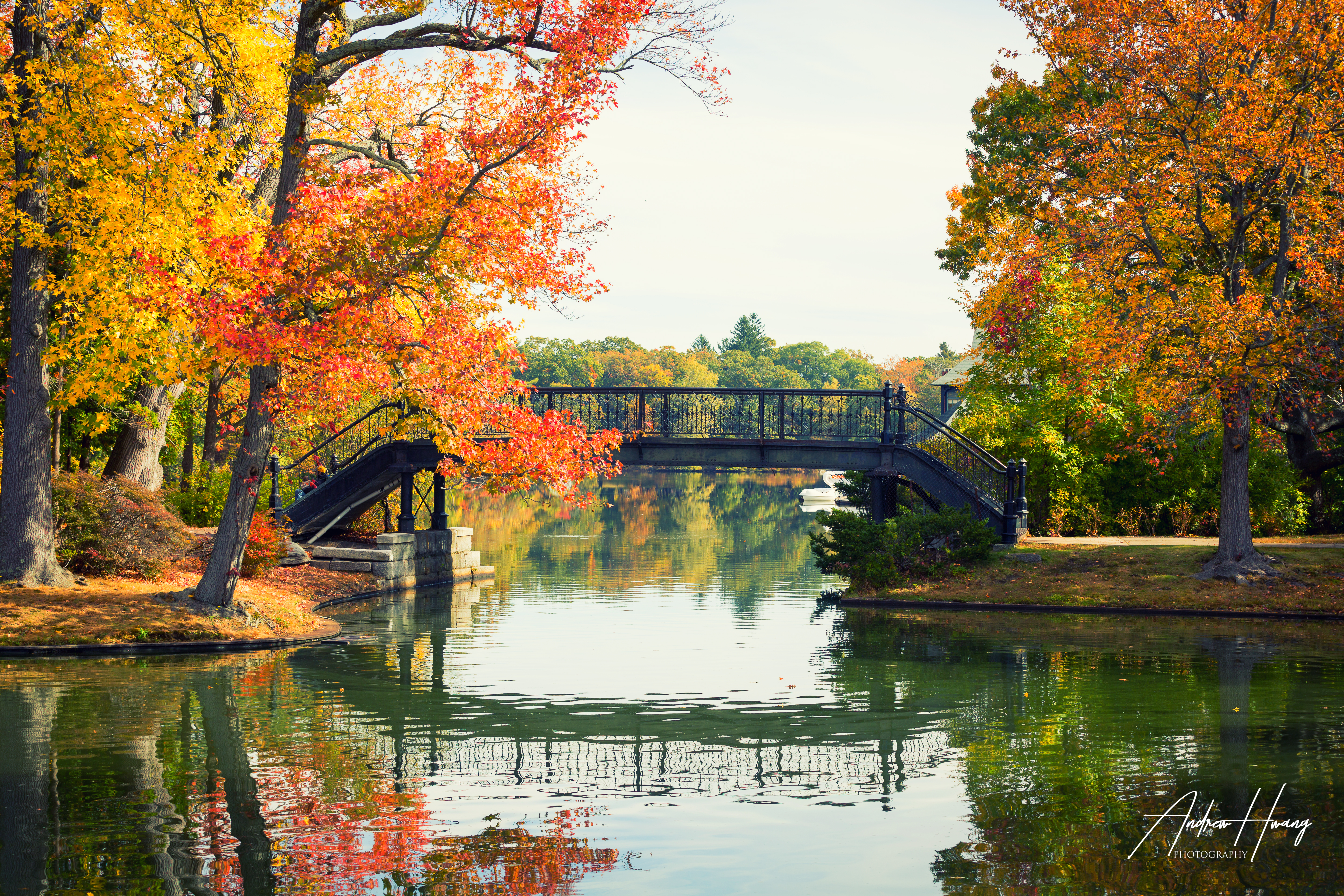 Roger Williams Park Fall Bridge
