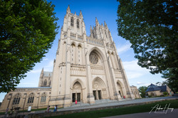 Outside National Cathedral DC