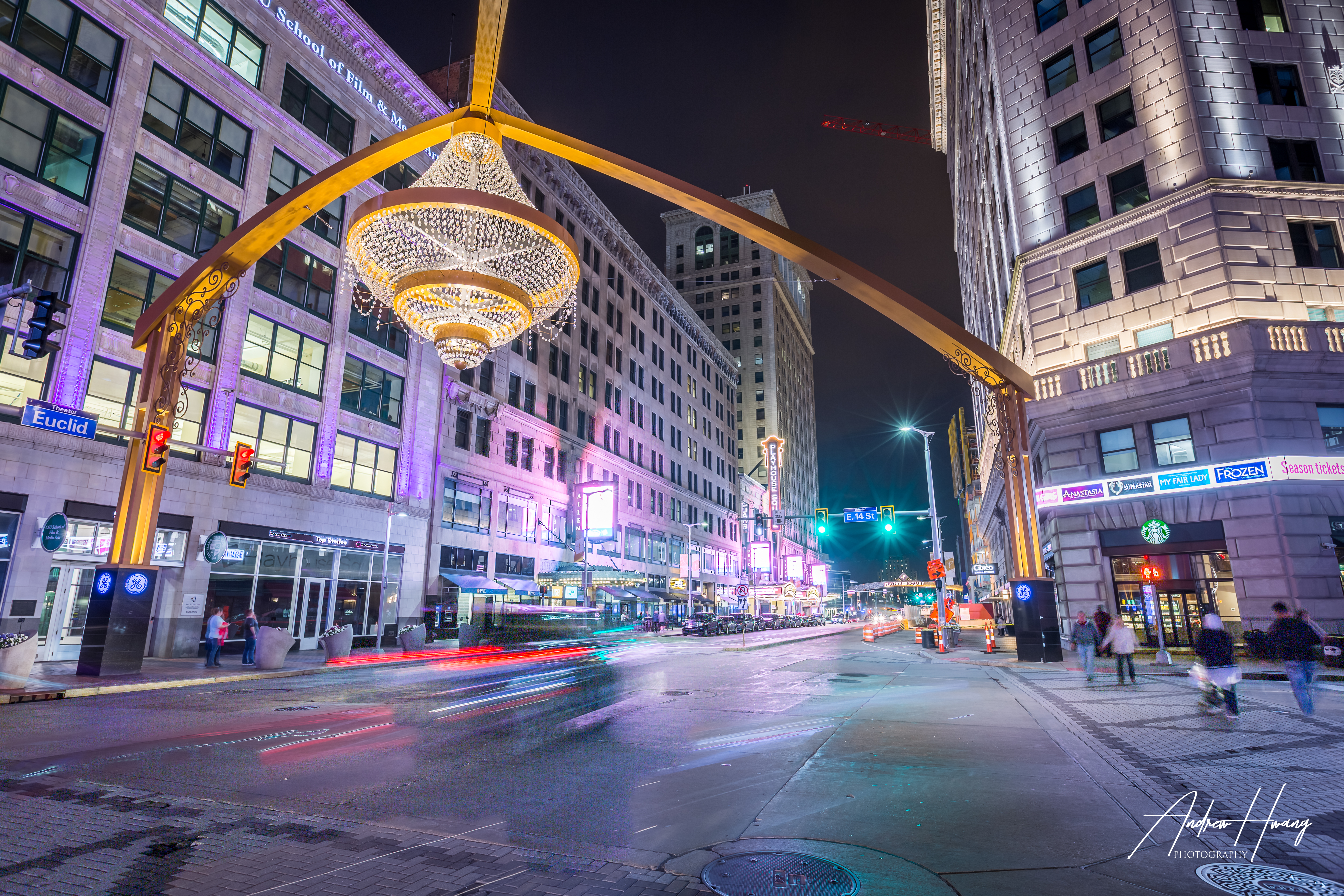 Playhouse Square Light Trail