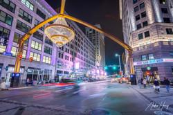 Playhouse Square Light Trail