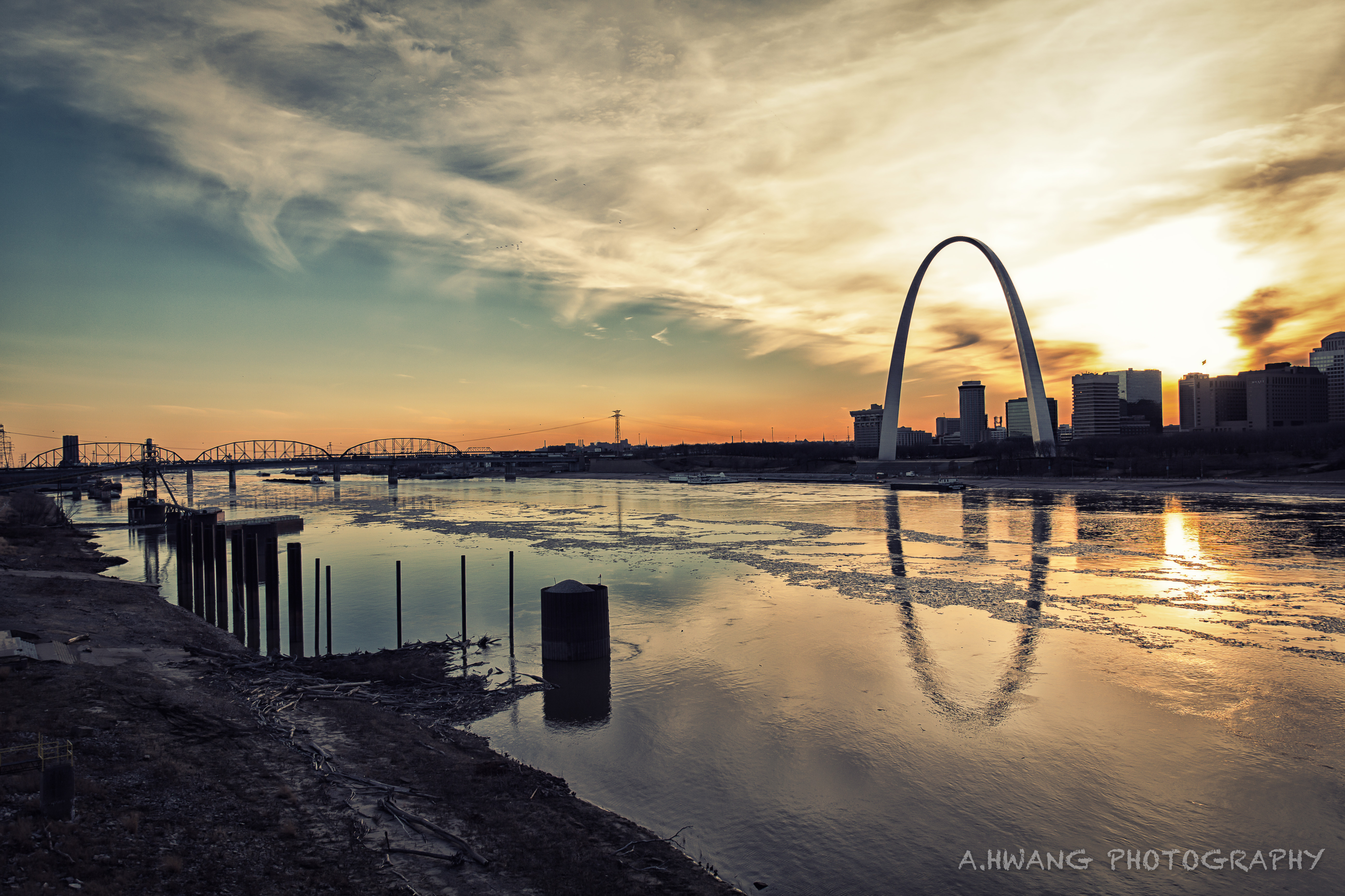 Arch Across the Mississippi River