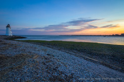 Five Mile Point Lighthouse Sunset
