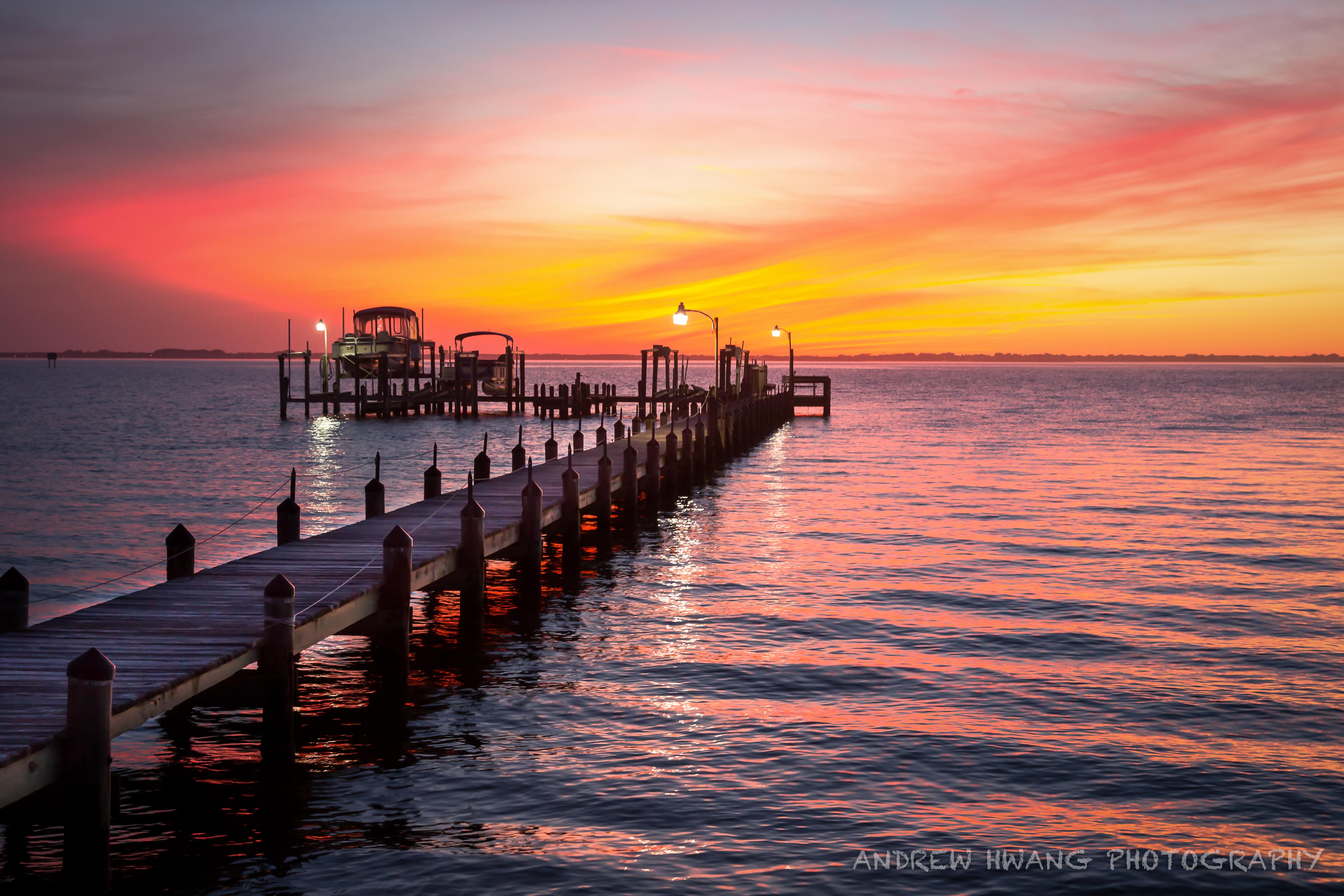Melbourne Fl Sunet Pier