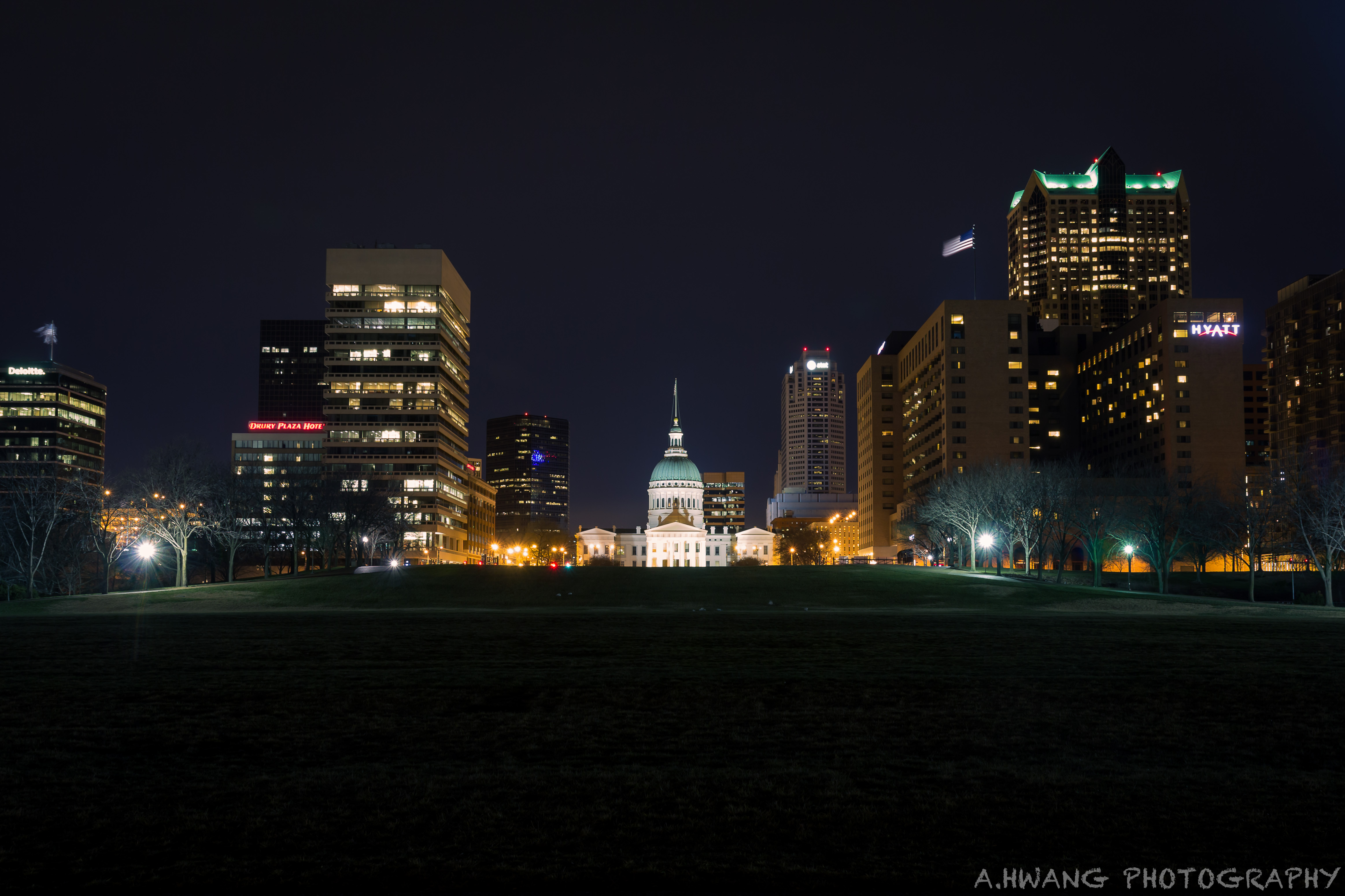 Old Court House Night Shot