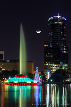 Lake Eola Orlando Crescent Moon