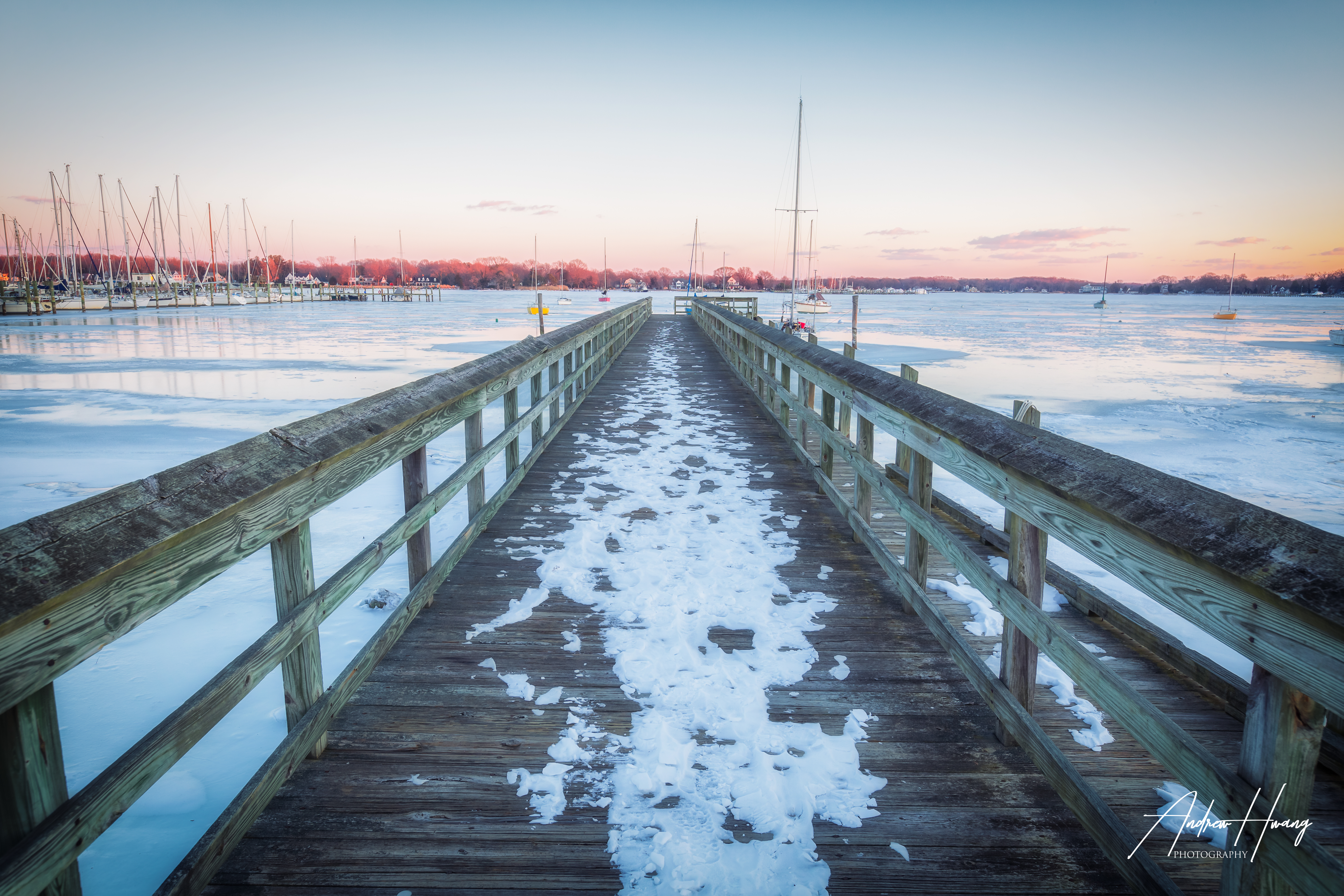 Frozen Pier Pirates Cove Galesville MD