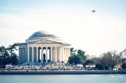 Jefferson Memorial - Boeing Airplane