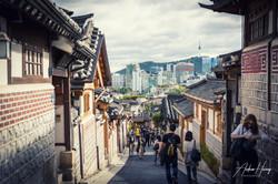 Seoul from Bukchon Village