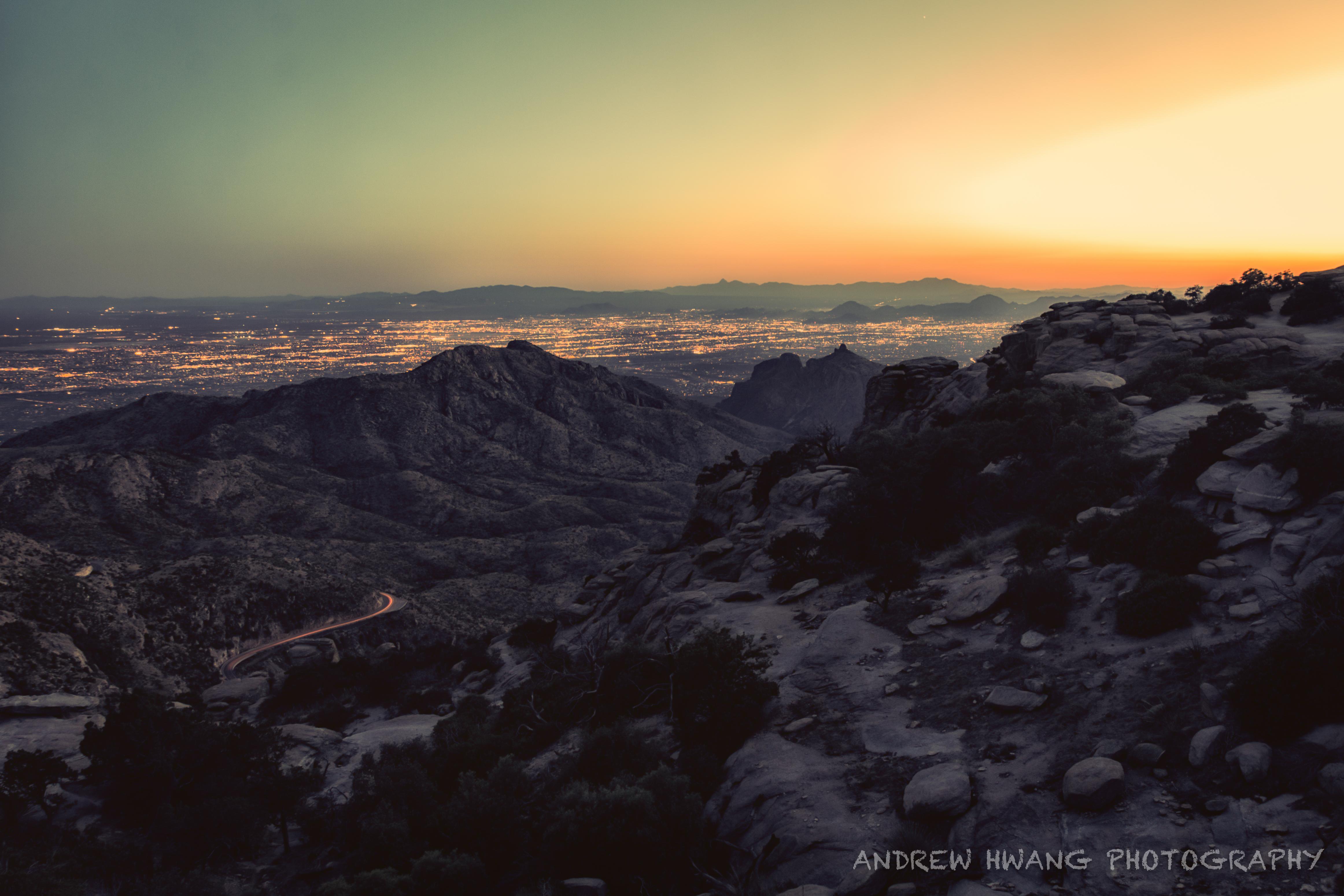 Mt Lemmon Beginning Sunset