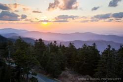 Clingmans Dome Sunset Smoky Mountains