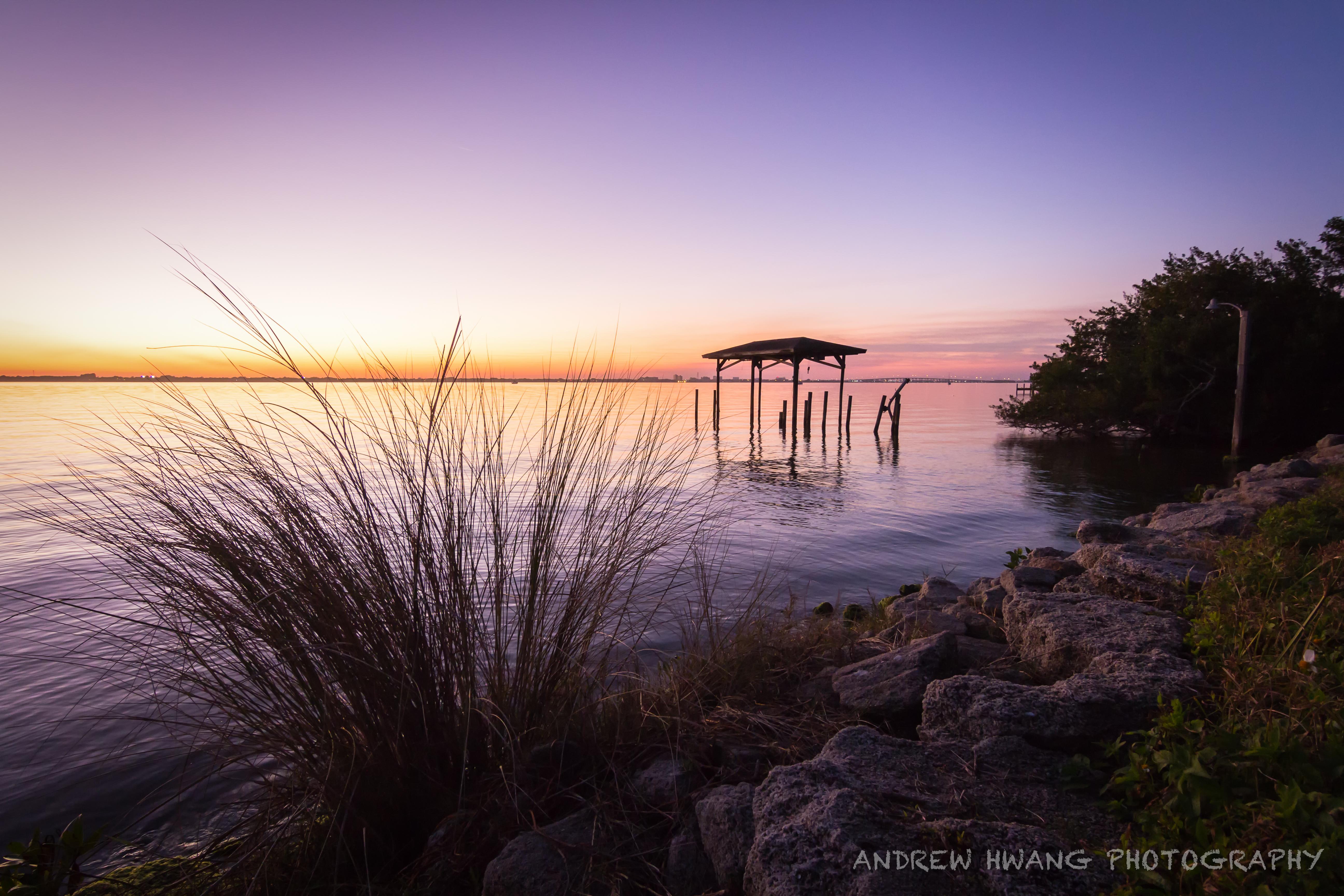 Melbourne Fl Sunset Rocks 4