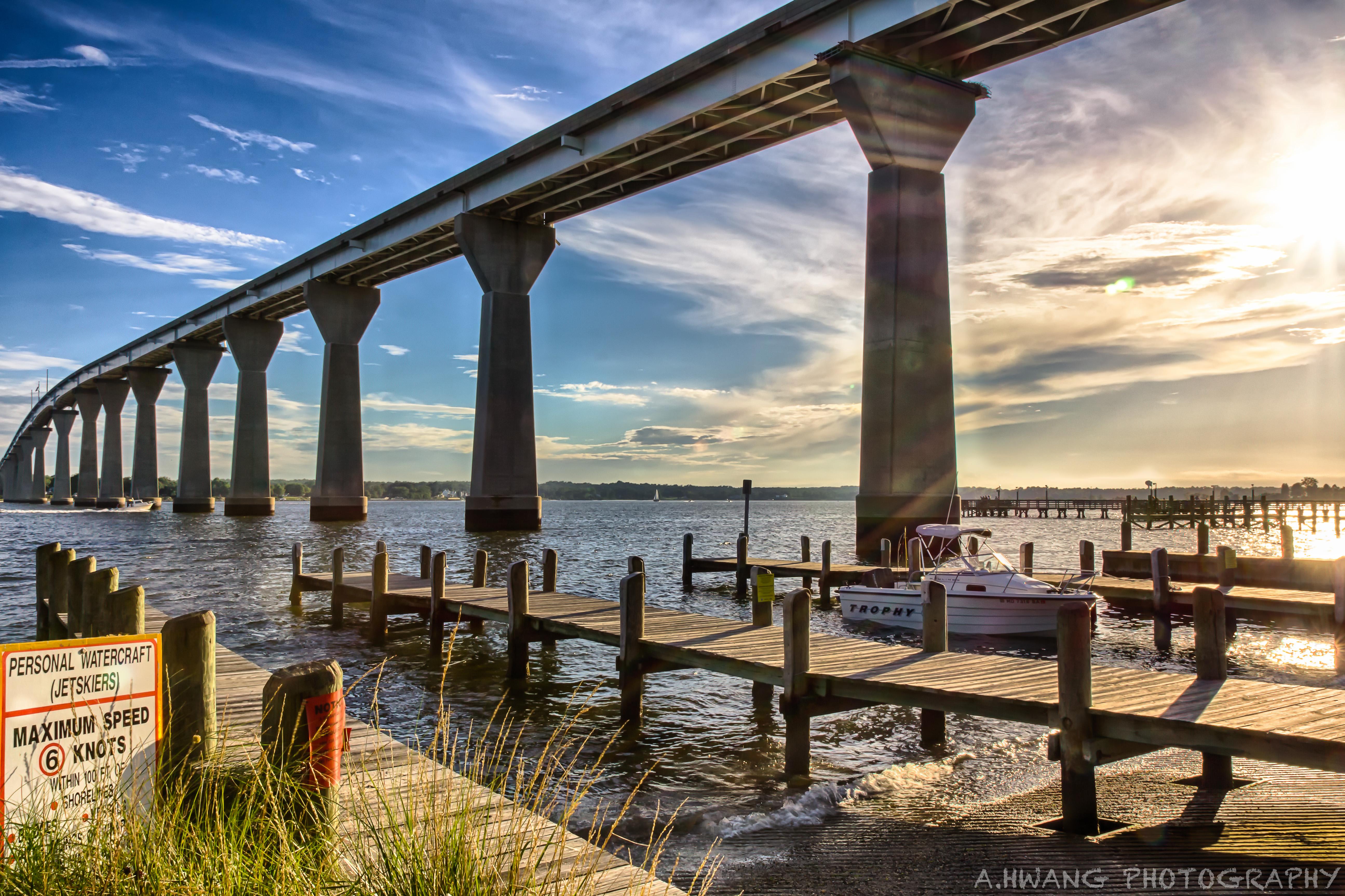 Solomons Island Bridge Sunset