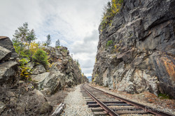 Pull Off Railroad Through Mountain