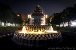 Pineapple Fountain Night Shot