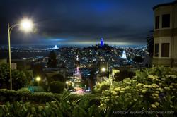 Lombard Street Blue Hour