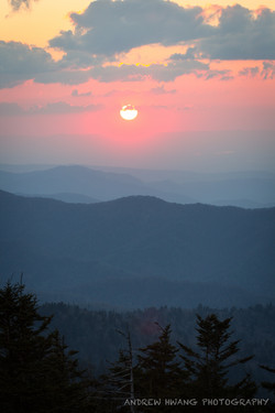 Clingmans Dome Sunset Smoky Mountains 2