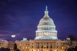 Washington Capitol Full Moon