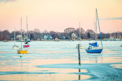 Galesville MD Pirates Cover Frozen on the Bay
