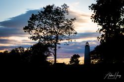 5 Mile Lighthouse Dusk Silhouette