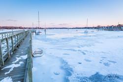 Off Pier Frozen Bay Galesville MD
