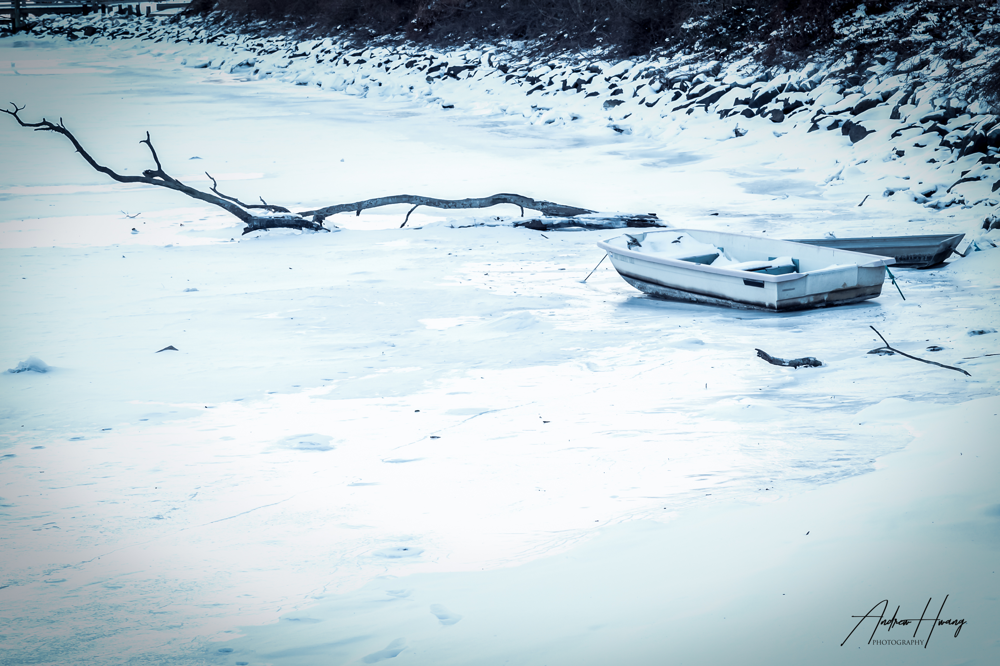 Frozen Stuck in the Galesville Harbor Yacht Club