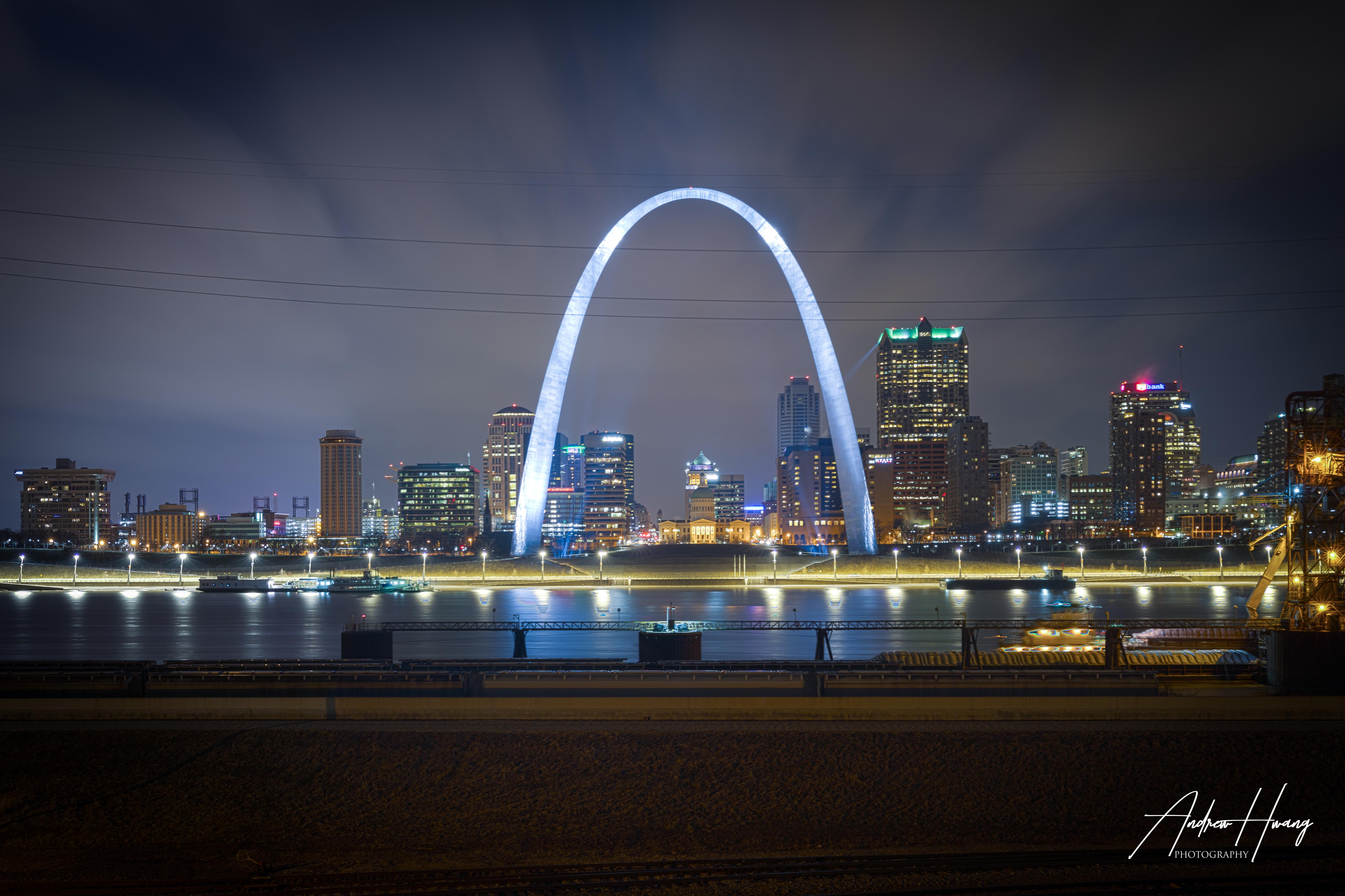 East St Louis Arch Nightshot