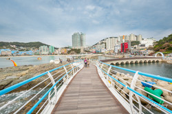 Songdo Skywalk Looking at Busan City