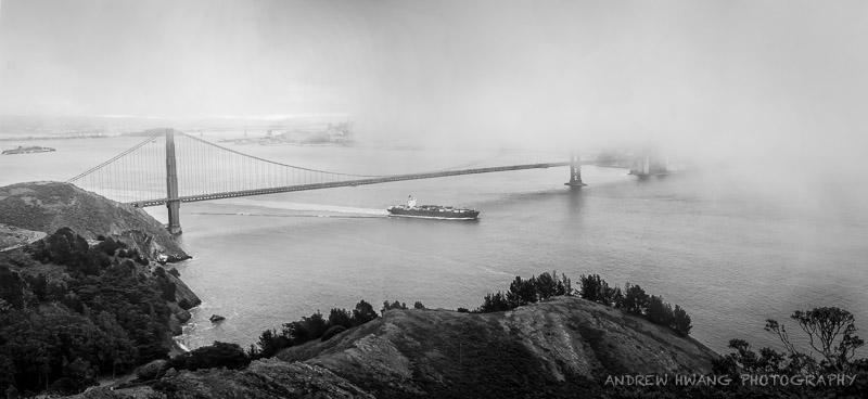 Golden Gate DayPano B&W