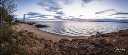 5 Mile Lighthouse Sunset Pano