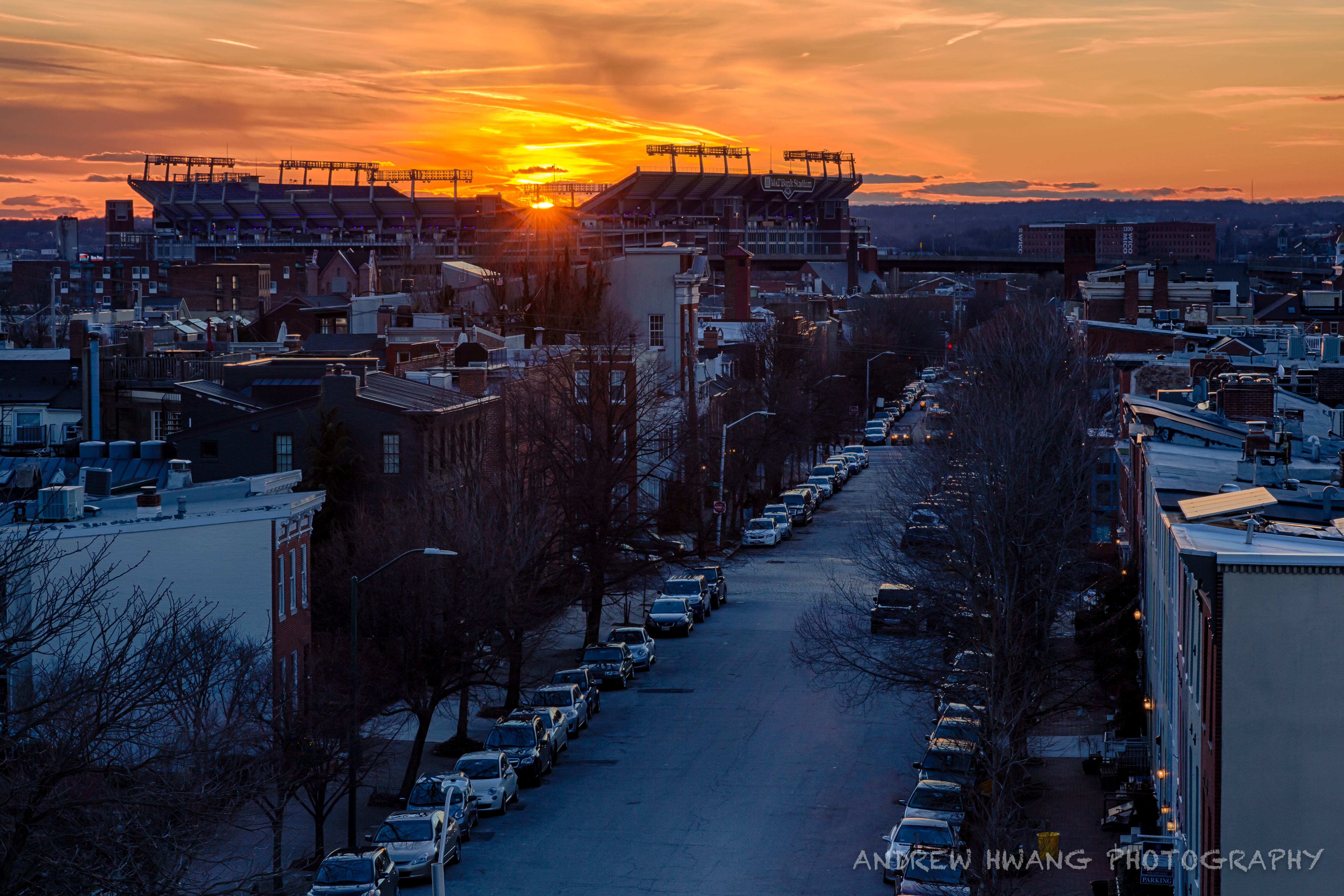 Fed Hill Baltimore Sunset