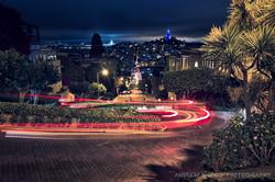 Lombard Street Light Trails 3