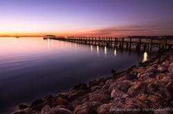 Melbourne Fl Sunset Rocks 7
