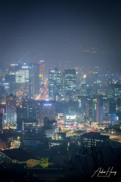 Seoul Night Shot_Namsan Mountain